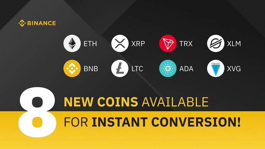 Here Is All We Know About Binance's 8 New Coins For Instant Conversion