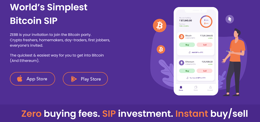 Zebpay Launched ZEBB App for SIP in Bitcoin and Ethereum