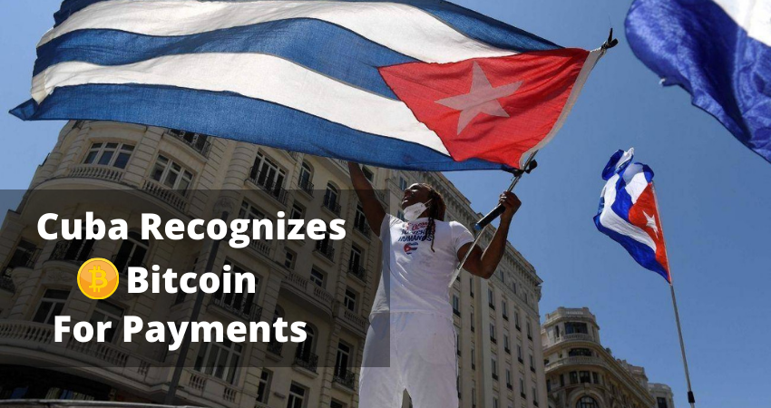Central Bank of Cuba Now Recognizes Cryptocurrencies Such as Bitcoin for Payments