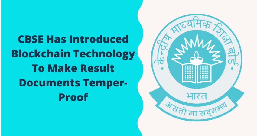 Crypto News Alert: CBSE Has Introduced Blockchain Technology To Make Result Documents Tamper-Proof